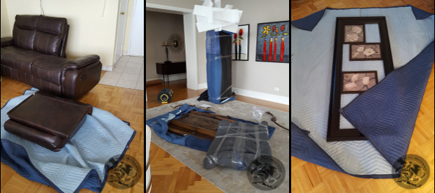disassembly of furniture and wrapping