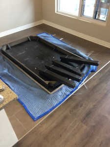dining-table disassembled