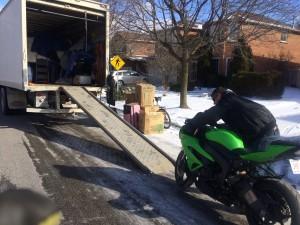 Loading bike to Calgary